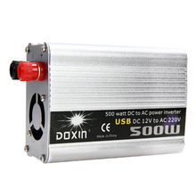 500W Car Power Inverter USB DC 12V to AC 220V Power Converter Adapte Inverter Cigarette Lighter Clip Cable car accessories
