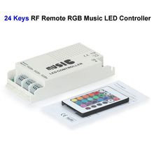 50pcs 12V 24 Keys RGB Music LED Controller Sound Sensor With RF Remote Control For SMD 3528 5050 RGB LED Rigid Strip