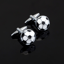 Luxury Jewelry Round football enamel Cufflink for Mens French Shirt Brand Cuff botton Wedding High Quality sports Cufflinks