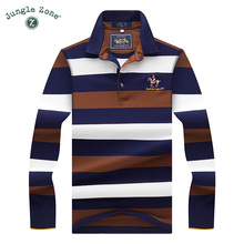 2017High Quality Tops&Tees Men's Polo Shirts fashion Style winter Striped brand Long sleeve POLO shirt men polo solid polo shirt