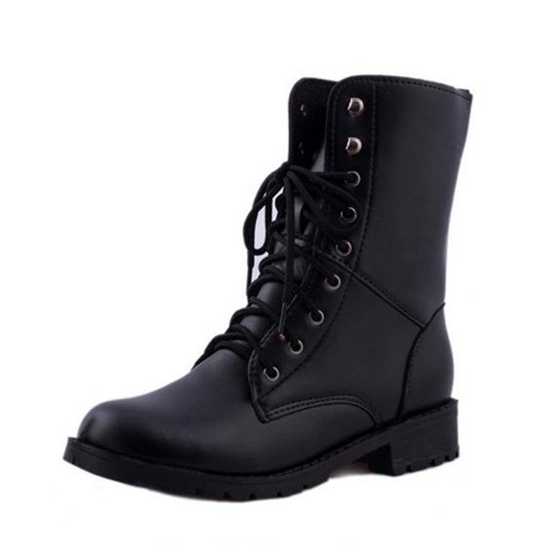 Hot Sale Fashion Women Motorcycle Boots Ladies Vintage Rivet Combat Army Punk Goth Shoes Women Biker Leather Autumn Boots<br><br>Aliexpress