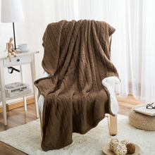 Imitation Cashmere Blanket Winter Warmth Knitted Wool Blanket Sofa/Bed/Car Cover Quilt Blanket Portable Plaids Home Textile(China)