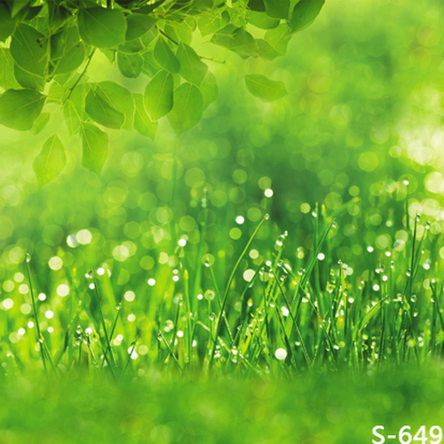 8x8ft(2.4x2.4m) Spring Green Vinyl Photography Backdrops Photo Studio Photographic Background Children Wedding Backdrop<br>