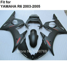 MOTOMARTS Hot sale fairings for Yamaha YZF R6 2003 2004 2005 matte black body work parts fairing kit YZFR6 03 04 05 BC32(China)