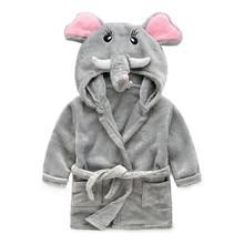 Children Cartoon Robes Animal Boys Girls Flannel Pajamas sleepwear Baby Soft Velvet Bathrobe Romper Kids clothing Toddler Robe