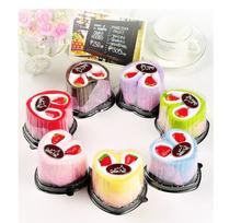 50pcs/lot! New Fashion and Creative Cake Towel Wedding Favor Birthday gift Wholesales multiple colors(China)