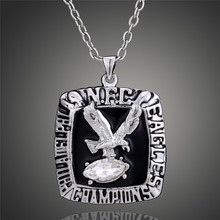 American Football Super Bowl Merchandise Vintage 1980 Philadelphia Eagles Champ Pendant Necklace Men Wholesale D00337(China)