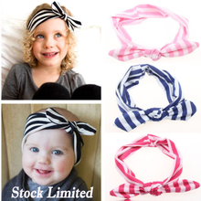 1pc free shopping 8COLOR CHOOSE  Cotton Girls Headwraps baby Knot Headband Fashion Hair Accessories children bowknot Hairband
