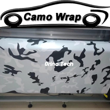 Black White Snow Camouflage Vinyl Decal Wrap Camo Car Sticker Foil Film Sheet Bubble Free Matte/Glossy Finished Wrapping