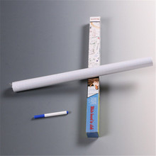 Hot Sale PVC Marker Whiteboard Wall Sticker Foils Decals Removable Note Teach Wall Paper(China)