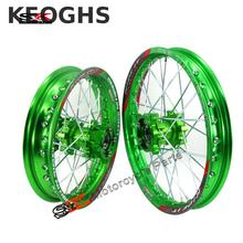 Keoghs Dirt Bike Motorcycle Wheel Rim/hub Front And Rear 12/14/17 Inches Cnc Aluminum Hub For Crf Bbr Kawasaki