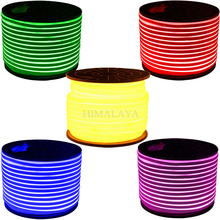Toika 50 Meters Led neon flexible tube strip 120leds/m Yellow/ red/ green/Orange/Blue/rgb 12v/24v  lantern flexible neon light