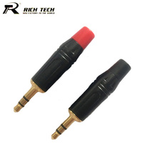 10pcs 3.5mm 3 Poles Stereo Male Plug Headphone Jack 3.5mm 3 PIN Stereo Wire Connector Gold Plated 3.5mm Connector Wholesales(China)