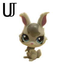 Pet Shop Animal Little gray rabbit Doll Figure Child Toy FREE SHIPPI Gift Figure Doll Christmas birthday gift toys 2267(China)