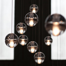 LED Bar Restaurant Project BOCCI Magic Clear Crystal Ball Pendant Lamp Hotel Dining Room Cafe Store Decorative Lighting