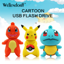 Pokemon cartoon usb flash drive 4gb 8gb 16gb pendrive flash disk memory stick 32gb 64gb pen drive U disk class 10 cle usb stisk(China)