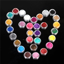 New 30pcs Mixed Colors Glitter Eyeshadow Powder Pigment Mineral Spangle Stage Makeup Cosmetic Long-lasting Random Color(China)