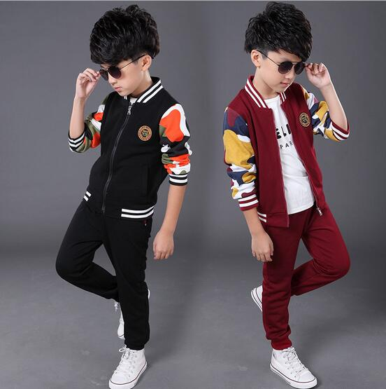 Baby Boy Two Pieces Cotton Boys Children Fashion Baseball Two Jumpsuit Outfits Set Clothing Sports Male<br><br>Aliexpress