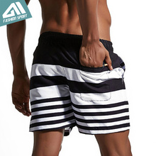 Summer Mens board shorts Men Surfing Beach Swim shorts Lining Liner Athletic Sport Gym Shorts Running Holiday Swimwear AM1702(China)