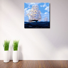 digital paint by numbers sailing boat diy oil painting home decor for living room   diy digital painting   drawing practice