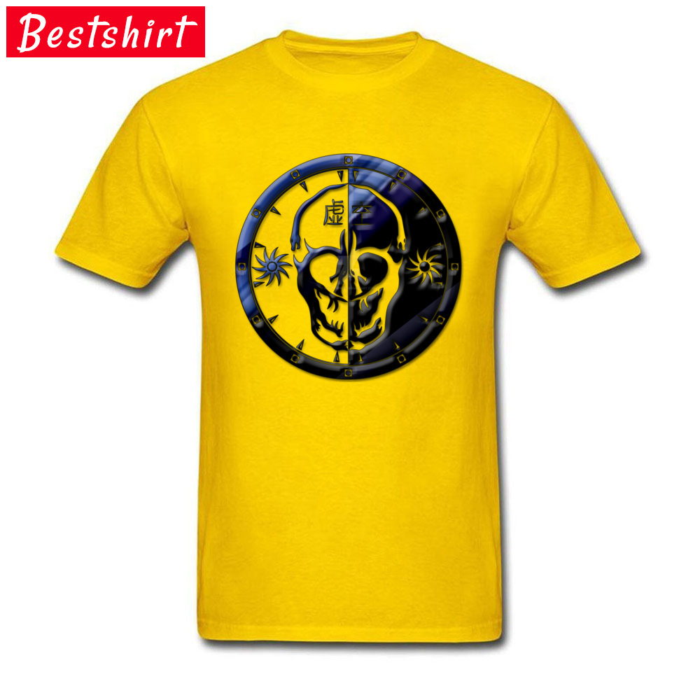 Void Clan Emblem Pure Cotton Family Tops & Tees Prevalent Short Sleeve Mens Tshirts Casual April FOOL DAY T Shirt O Neck Void Clan Emblem  yellow