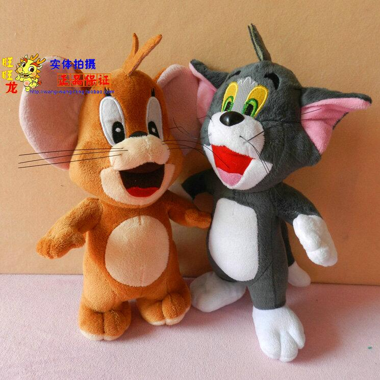 2pcs/lot 10 25CM Stuffed Dolls Tom cat and Jerry Mouse Plush Toy Doll Popular Cartoon Plush Toys High Quality Wholesale<br><br>Aliexpress