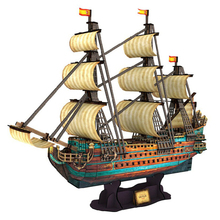 Development of intelligence,Educational toys,good quality,foam,emulational,toys,paper model,1:110,St Philip ship,3D PUZZLE