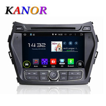 KANOR Quad Core Android 5.11 Car DVD GPS For Hyundai IX45 Santa Fe 2013 Autoradio Multimedia System Capacitive Touchscreen