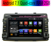 Free shinpping Android 7.1 Quad-core RAM 2GB Car DVD Player For Kia Sorento HD 1024*600 With 3G/wifi USB GPS BT