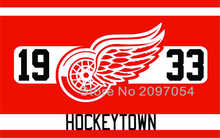 NHL Detroit Red Wings Flag 3x5 FT 150X90CM Banner 100D Polyester flag 1001, free shipping