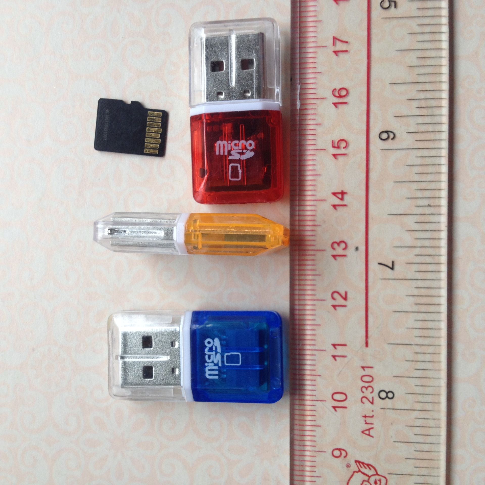 YOUKITTY Mini USB2.0 Card Reader Black TF Card Adapter Plug and Play Colourful Memory Card Reader for Micro-SD Card