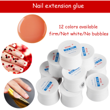 MDSKL UV Builder Extend Nail Glue Nail Art Manicure Tips Glue 15g Extend UV Gel Nail Builder Gel Transparent LED Gel 12Color(China)