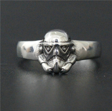 Drop Shipping Size 7-11 Moive Style Mini Star War Ring Angle 316L Stainless Steel Jewelry Men Biker Mask Skull Ring