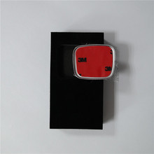 Red H Logo Car Steering Wheel Emblem Alloy Epoxy Resin Sticker 50*41mm Auto Custom Badge(China)
