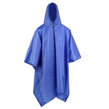 Drop Shipping 3 in 1 Waterproof Raincoat Outdoor Travel Rain Poncho Jackets Backpack Rain Cover with Carry Bag(China)