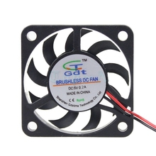 Gdstime 2pcs Small Mini DC Cooling Fan 40x40x7mm 40mm 4cm 5V 2 Pin 6500RPM Cooler Free Shipping(China)