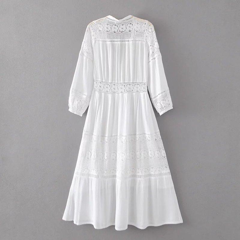 Белые Платья Из Хлопка С Кружевом