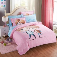 Best Selling Lovely Bedding Sets Cartoon Home Textile Bedding Sets Bedclothes Duvet Cover Single Double Queen Size Bed Cover