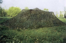 2016 NEW bilayer material 4X6M Military Camouflage Net Woodlands Leaves Camo Netting for Hunting Camping(China)