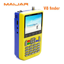 [Genuine]digital satellite finder FREESAT V8 finder signal search meter V8 finder for DVB-S/S2 with 3.5 inch LCD Colour Screen d