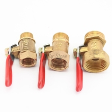 1/4'' 3/8'' 1/2'' Female/Male Thread Ball Valve Brass Connector Joint Copper Pipe Fitting Coupler Adapter