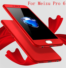 360 Case Full Body Coverage Phone Cases for Meizu Pro 6 Hard PC Protective Cover for Meizu Pro6 Pro6s Free Tempered Glass Coque
