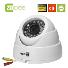 CNHIDEE 600TVL Nextchip  Color CCD Security  IR Dome Camera CCTV Night Vision indoor 20PCS LED IR  Distance 15 M Camaras -