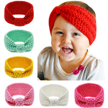 girls kids knit crochet turban headband warm knot headbands hair accessories for children hair head band wrap hairband ornaments