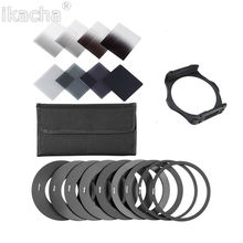 New ND2 ND4 ND8 ND16 Filter Set + 49 52 55 58 62 67 72 77 82mm An Adaptor Ring + Filter Holder Set For Cokin P Series