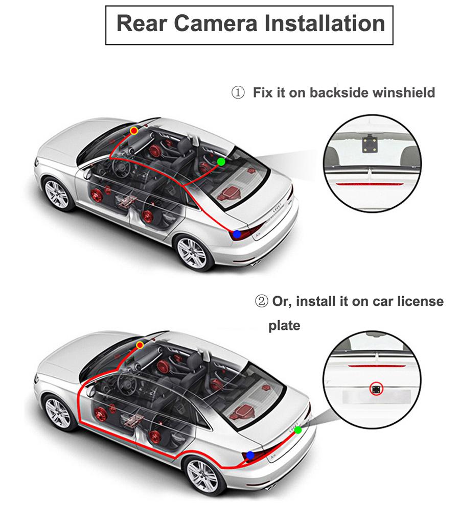 "Junsun 8"" 4G Special Mirror Car DVR Camera Android 5.1 with GPS DVRs Automobile Video Recorder Rearview Mirror Camera Dash Cam 56"