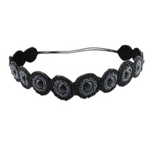 Frontlet euramerican style fashion beaded hairwrap circle bead elastic hair band lead with hair tire hair hoop head band