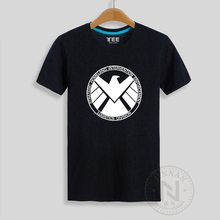 Agents of Shield T Shirt Men T-Shirt Cartoon Comic Tshirt Super Hero Tee S.H.I.E.L.D. The Avengers
