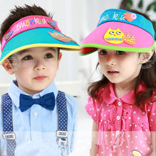 XUYE cotton Children summer Suncreen breathable  Hats Kids Baby spring Hat Child Cartoon lovely Beach caps boys girls Visor cap