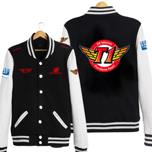 champion Team SKT1 baseball uniform cloth hoodie coat clothing free shipping(China)